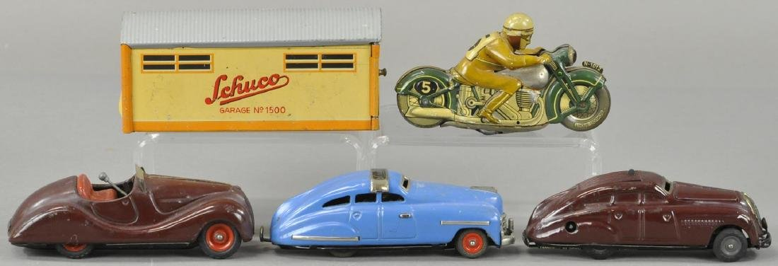 GROUP OF FOUR SCHUCCO AUTO TOYS - 3