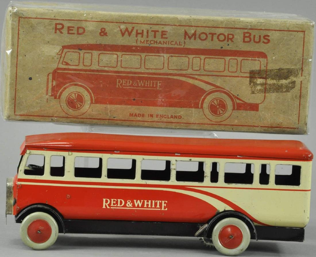 BOXED RED AND WHITE CHAD VALLLEY BUS