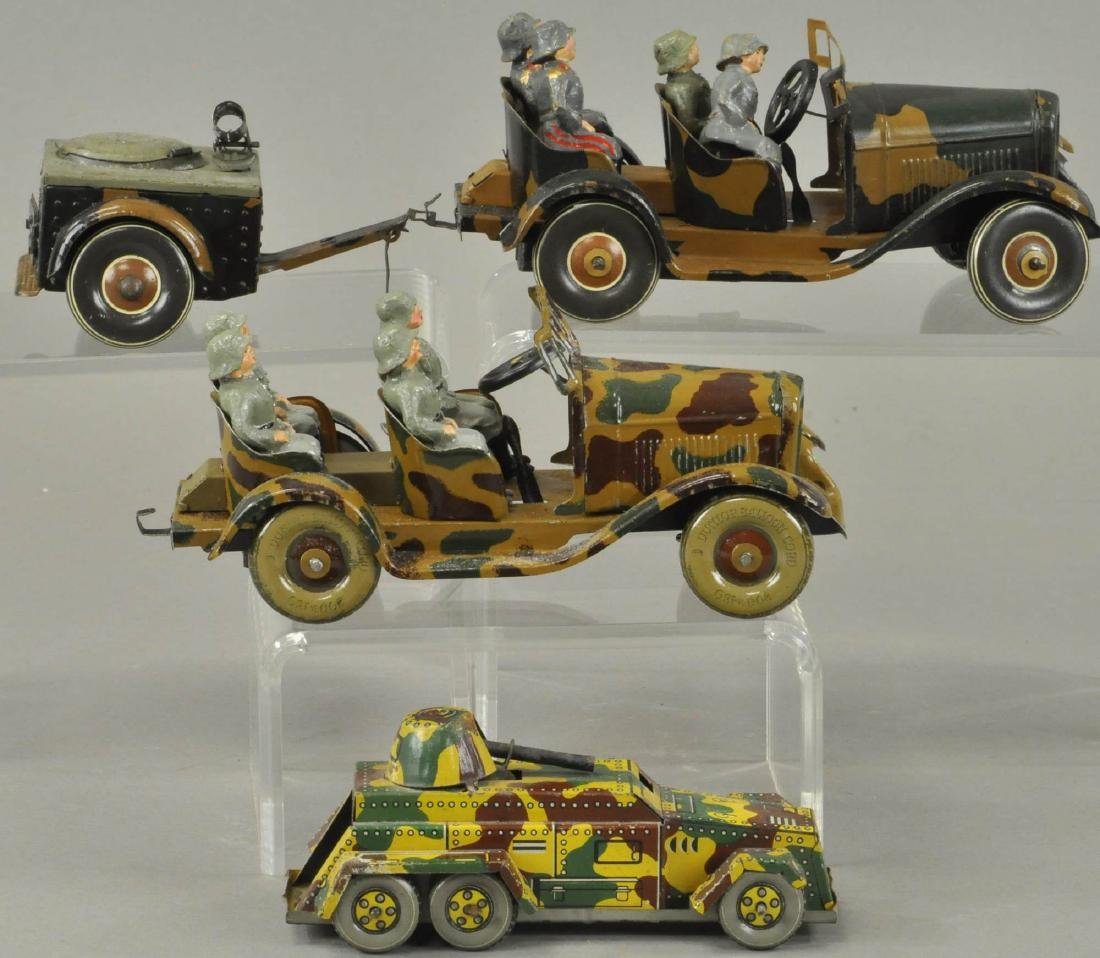 THREE FOREIGN ARMY CARS - JAPAN