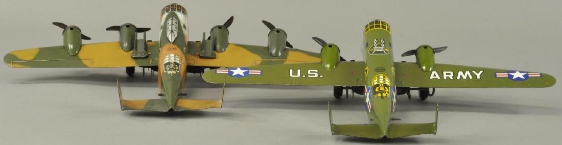 TWO MARX ARMY MILITARY AEROPLANES - 4