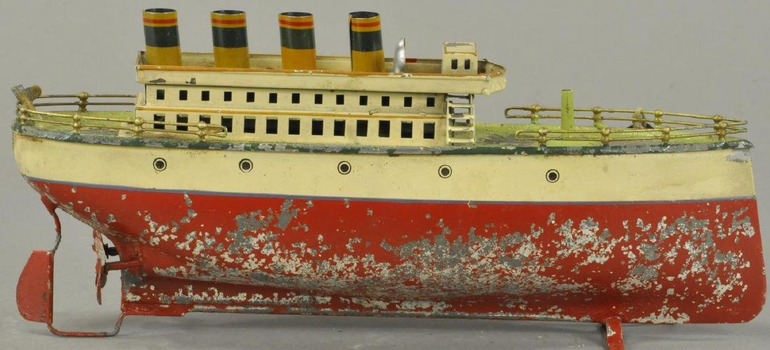 EARLY FLEISHMANN HAND PAINTED OCEAN LINER