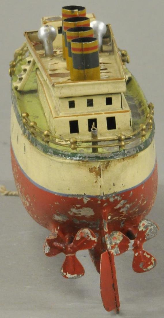 EARLY FLEISHMANN HAND PAINTED OCEAN LINER - 2