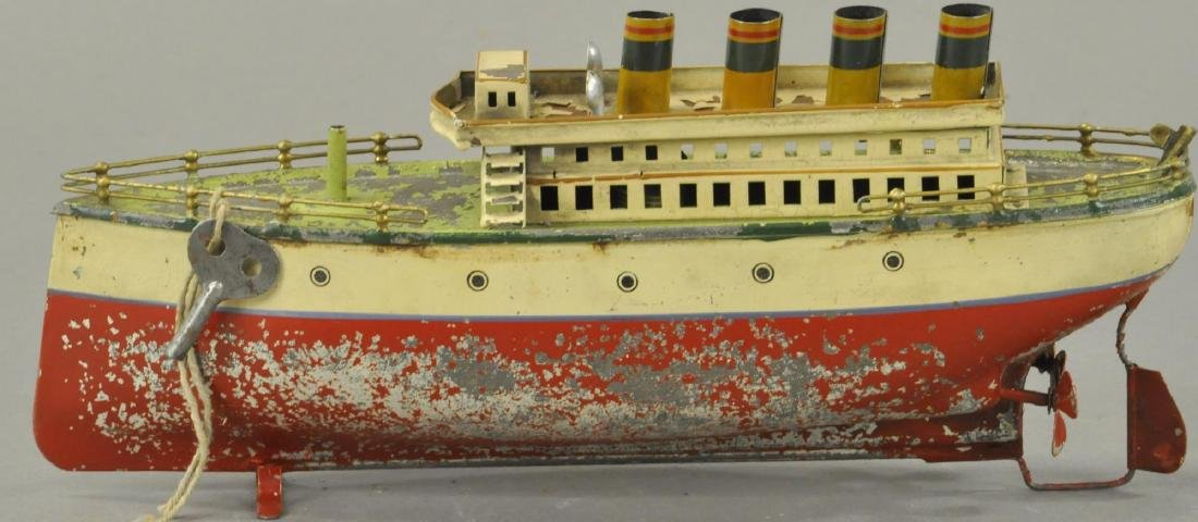 EARLY FLEISHMANN HAND PAINTED OCEAN LINER - 3