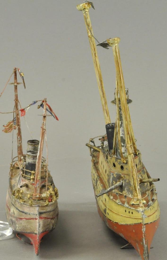 TWO HAND PAINTED GERMAN TIN BOATS - 3