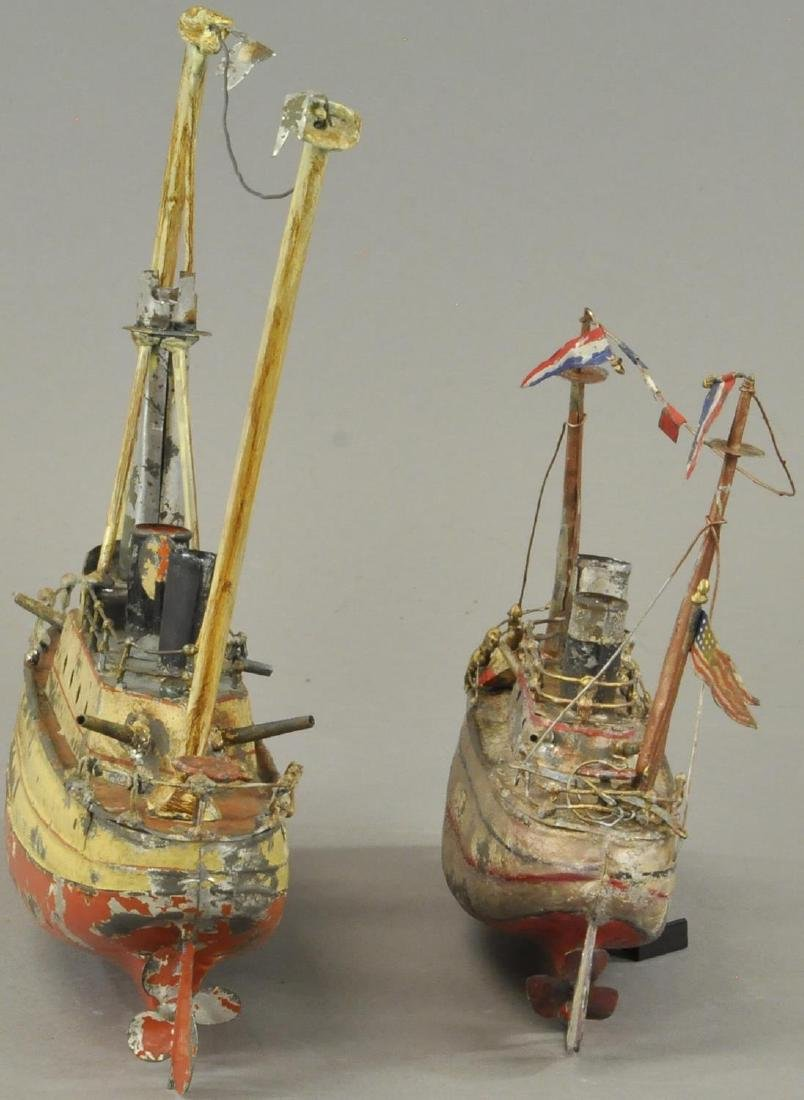 TWO HAND PAINTED GERMAN TIN BOATS - 4