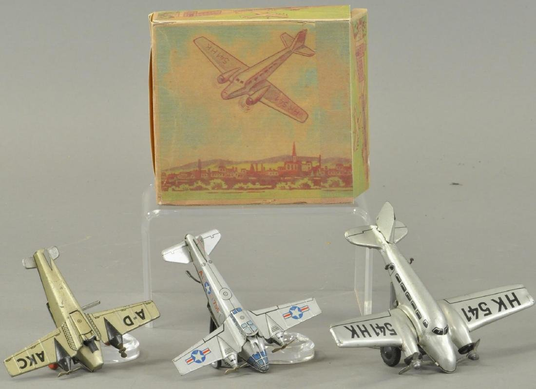 LOT OF THREE TIN AIRPLANES - WESTERN GERMANY