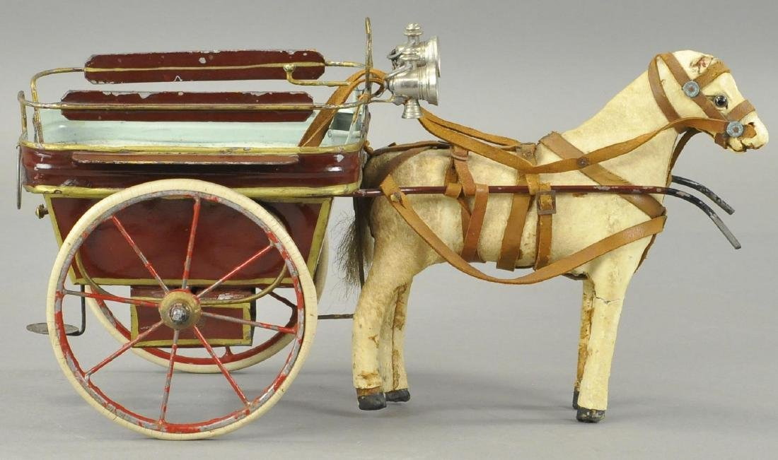 HORSE DRAWN TIN CART - FRENCH/GERMAN - 2