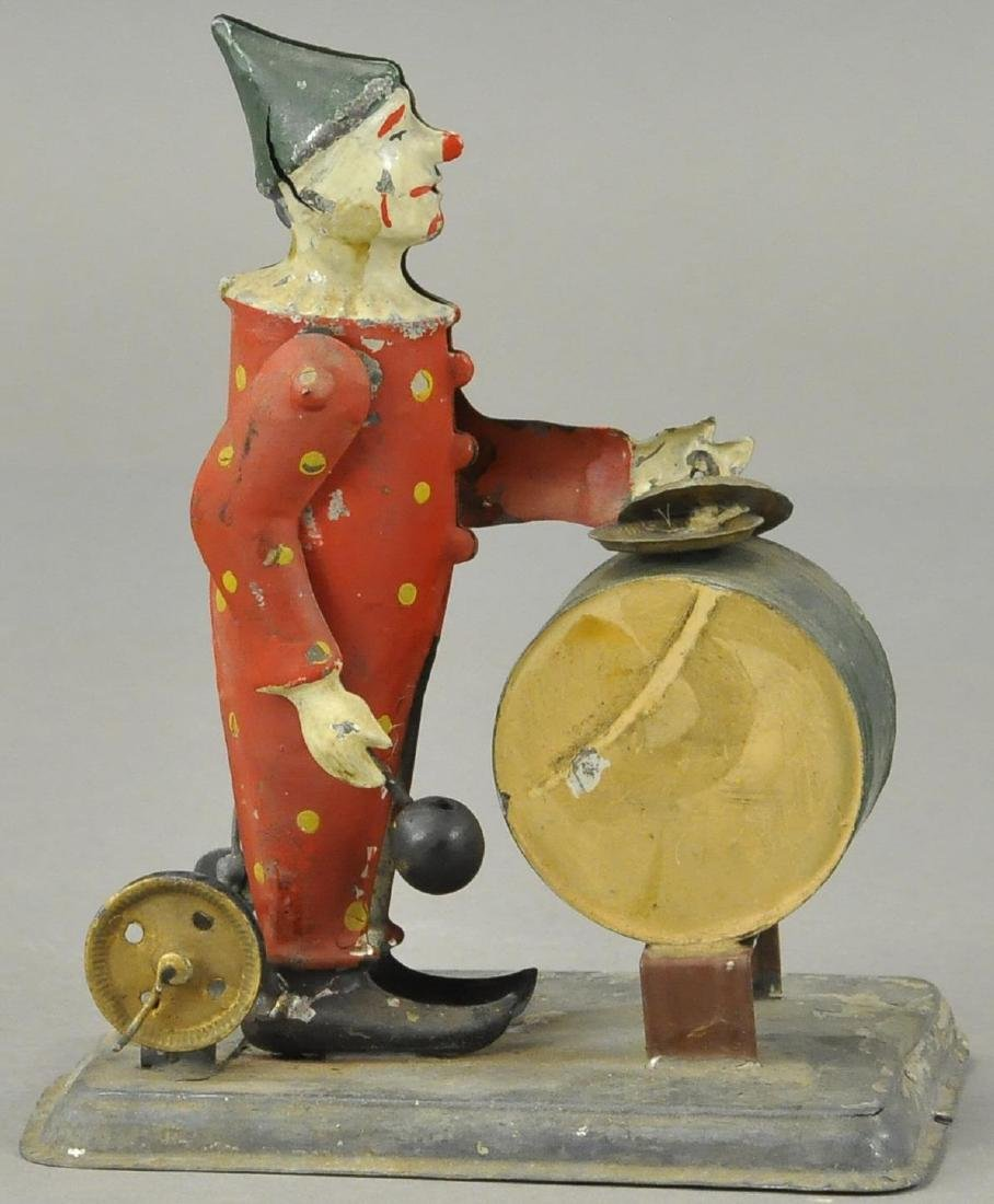 GERMAN TIN CLOWN DRUMMER - FLYWHEEL