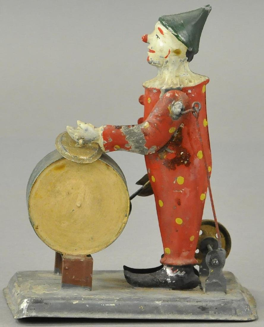 GERMAN TIN CLOWN DRUMMER - FLYWHEEL - 2
