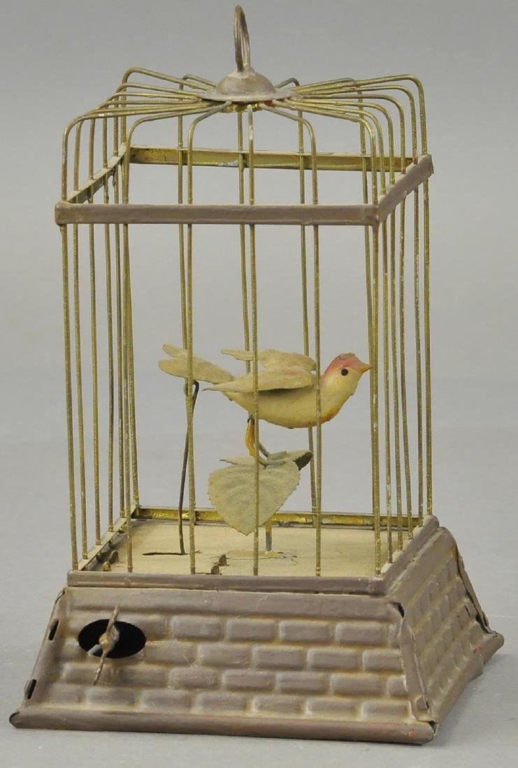 GERMAN WIN-UP BIRD IN CAGE - 2