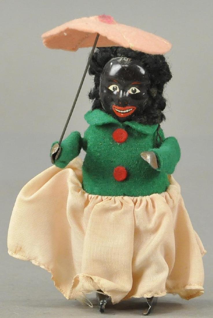 SCHUCO BLACK LADY WITH UMBRELLA