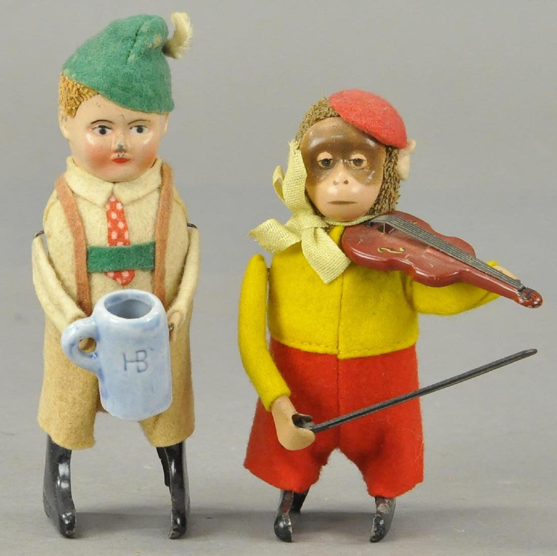 TWO SCHUCO FIGURES - BAVARIAN/VIOLIN