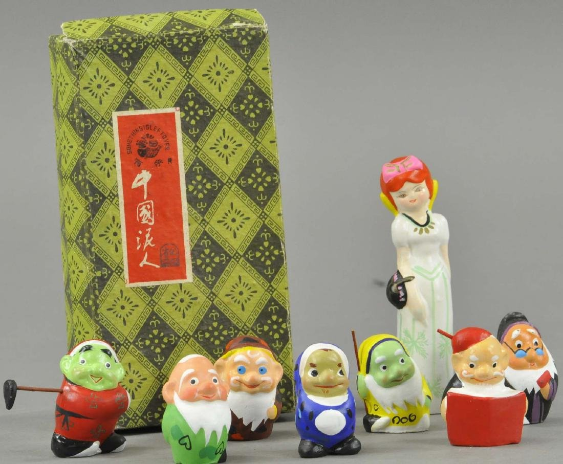 BOXED JAPANESE BISQUE SNOW WHITE SET