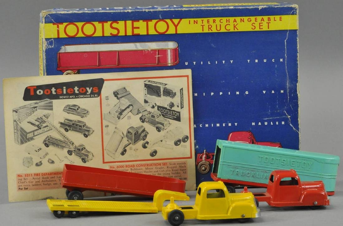 BOXED TOOTSIETOY INTERCHANGEABLE TRUCK SET