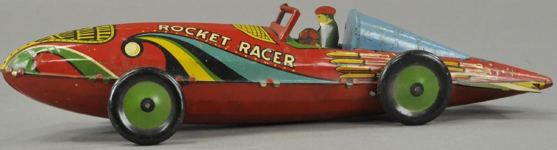 MARX WIND UP ROCKET RACER CAR