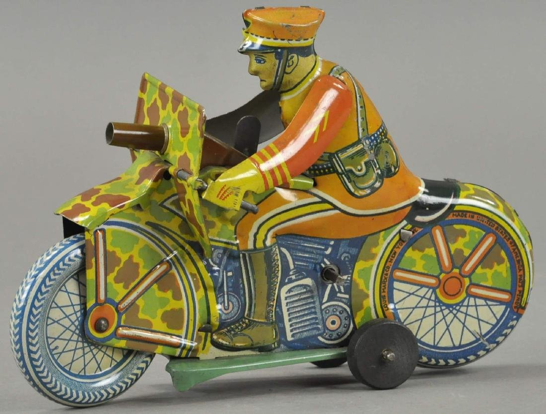 MARX ARMY SPARKLING MOTORCYCLE