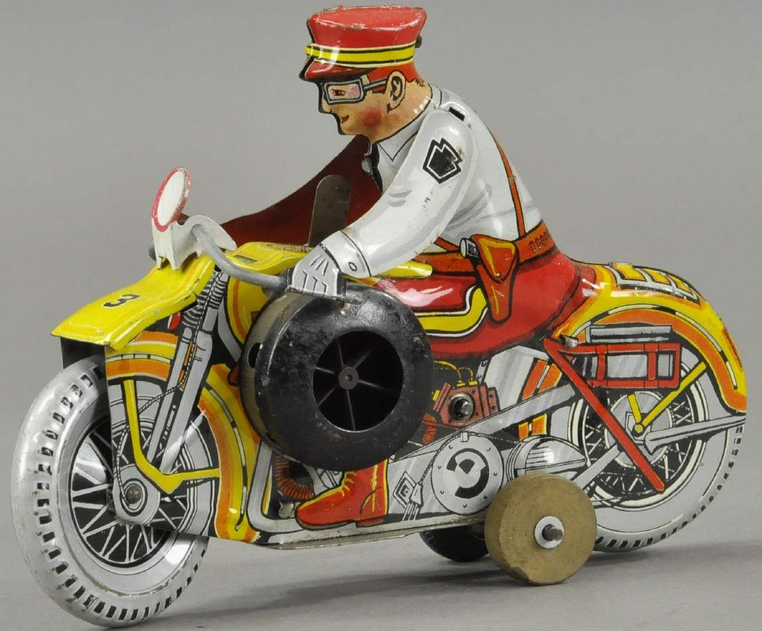 MARX POLICE SIREN MOTORCYCLE