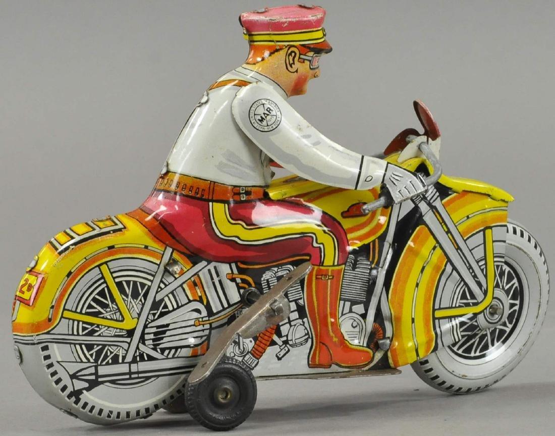 MARX POLICE SIREN MOTORCYCLE - 2