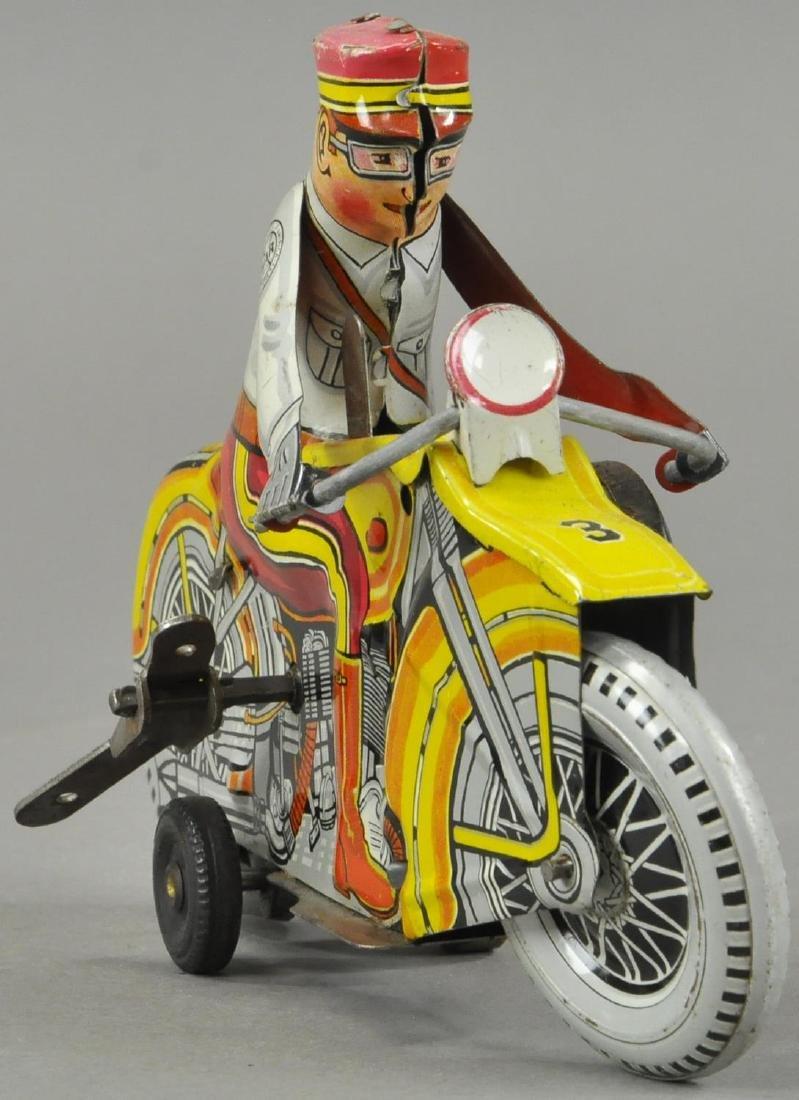 MARX POLICE SIREN MOTORCYCLE - 3