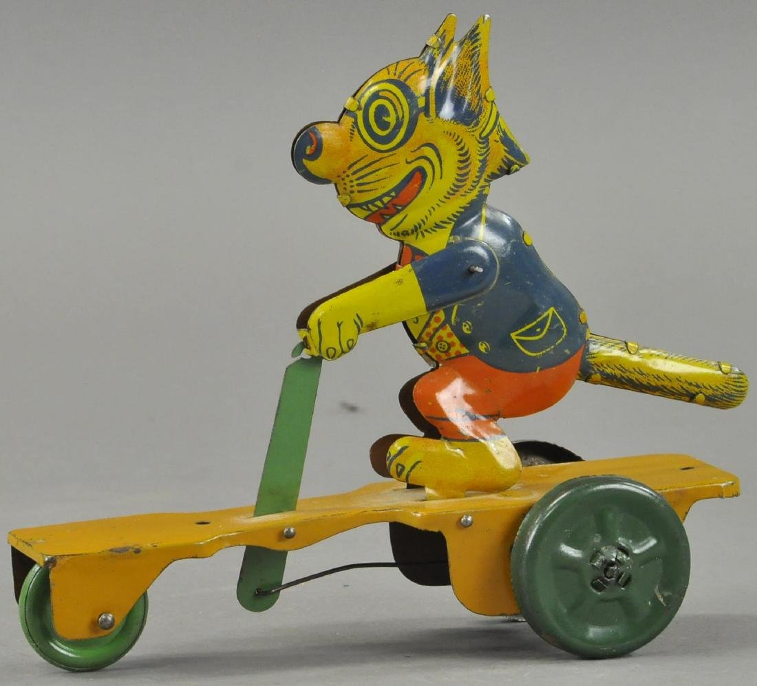 COOL CAT ON SCOOTER PULL TOY