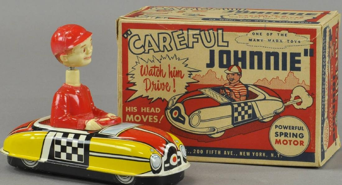 BOXED MARX CAREFUL JOHNNIE CAR