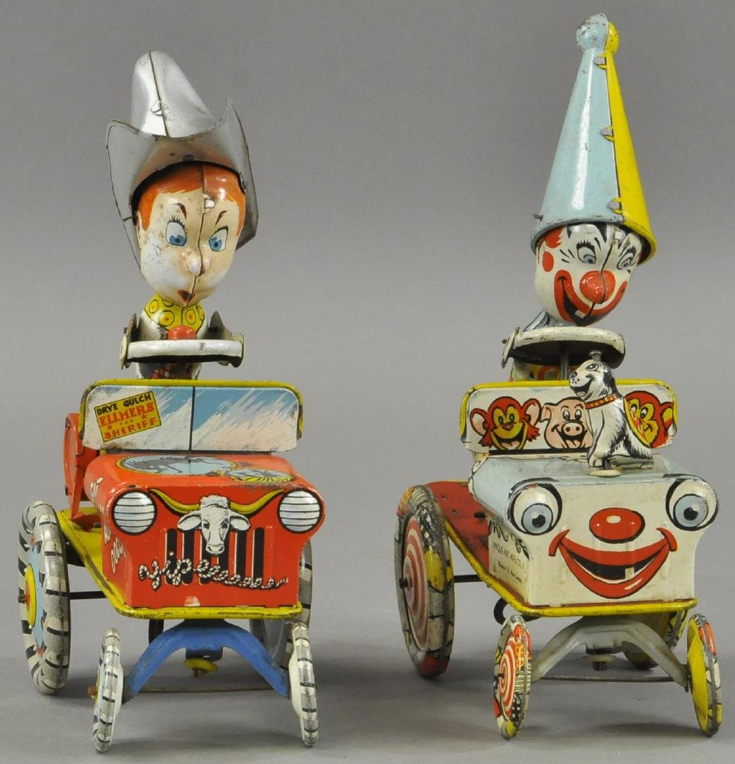 TWO UNIQUE ART CRAZY CARS - ARTEE/COWBOY - 2