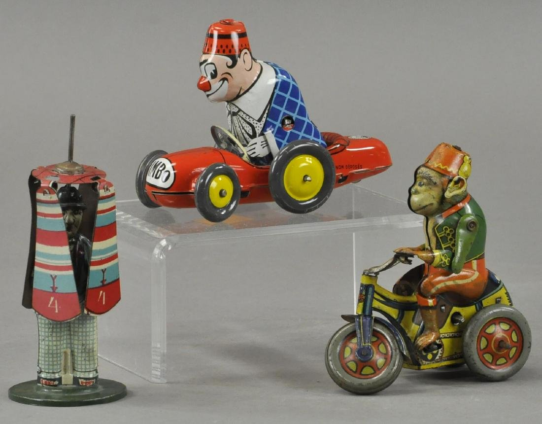 THREE GERMAN/FRENCH COMIC TIN TOYS - JOUSTRA