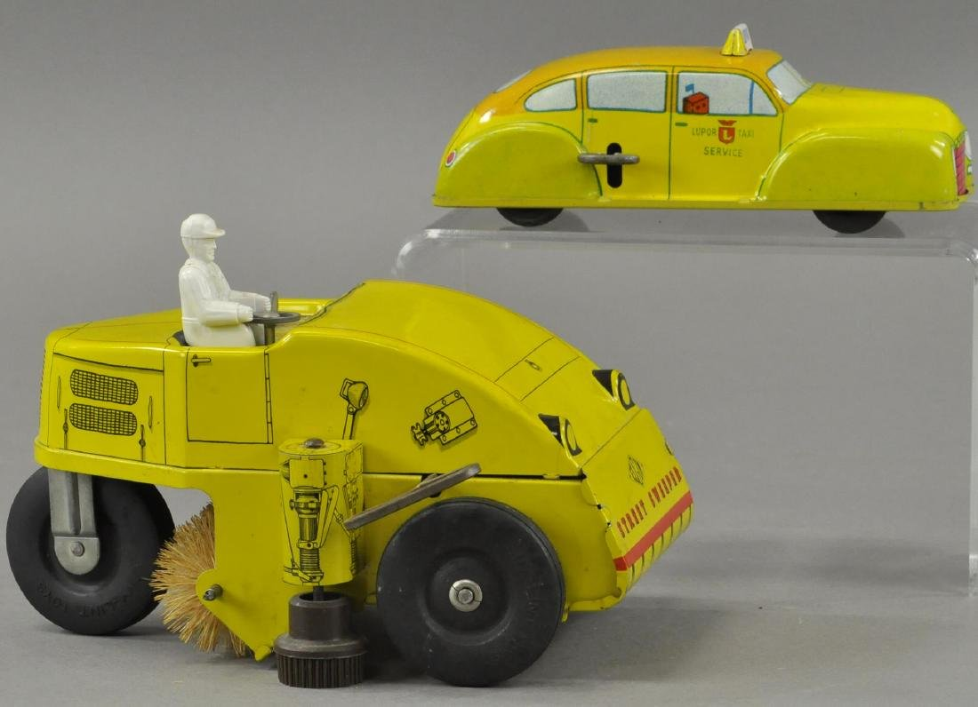 NYLINT SWEEPER & LUPAR TAXI TOYS