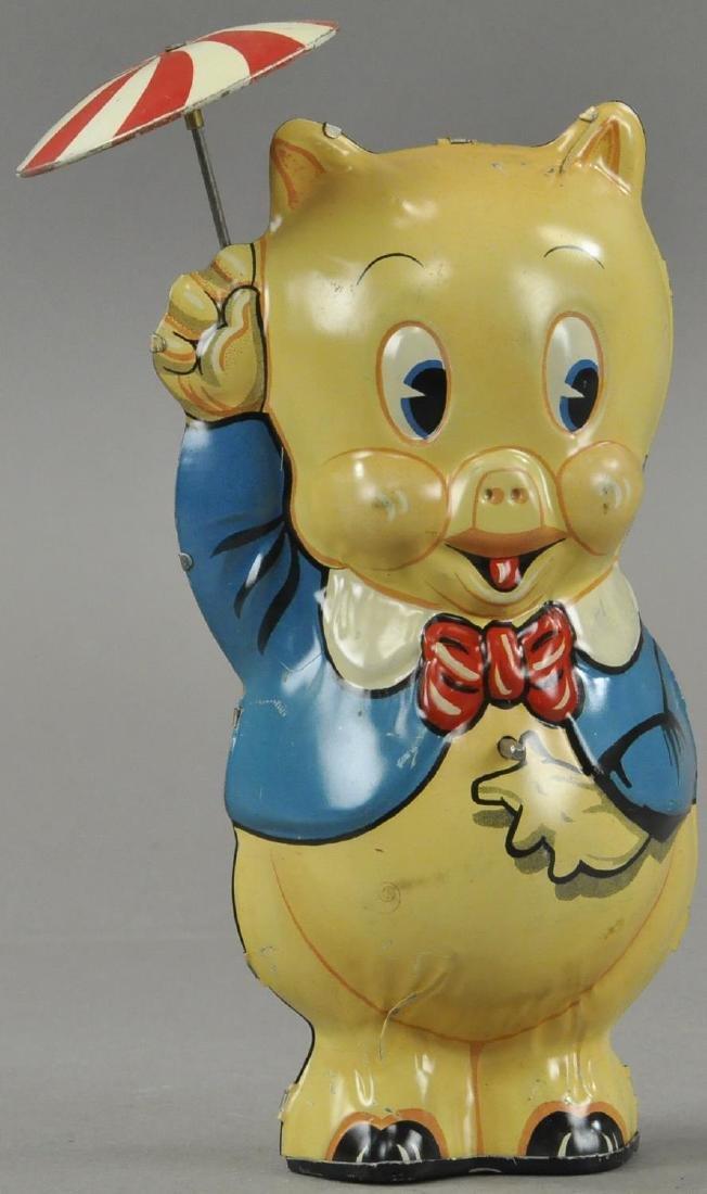MARX PORKY PIG TWIRLING UMBRELLA