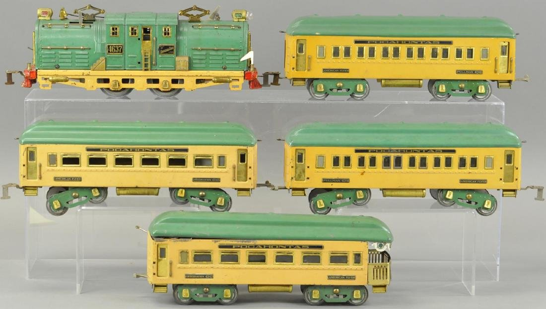 AMERICAN FLYER WIDE GAUGE POCAHONTAS SET