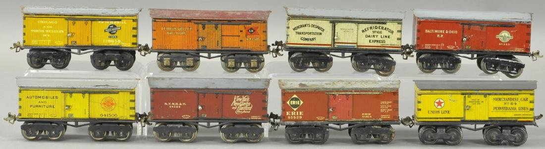 LOT OF EIGHT IVES BOX CARS