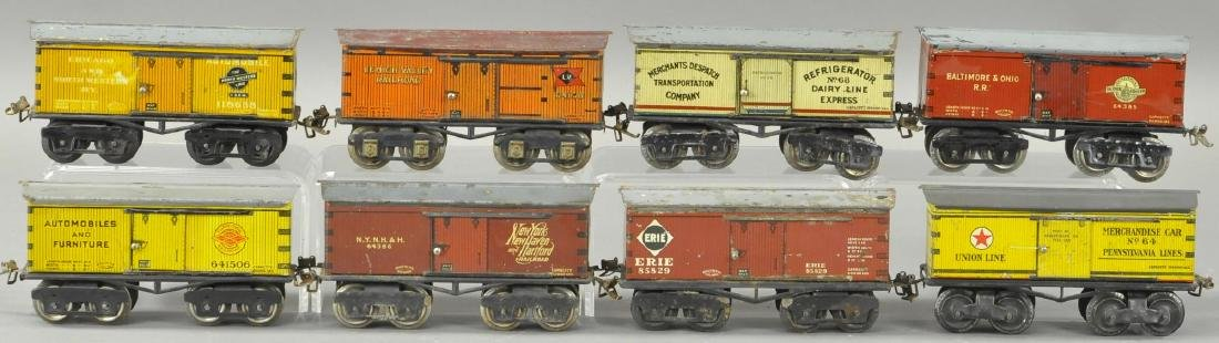 LOT OF EIGHT IVES BOX CARS - 2
