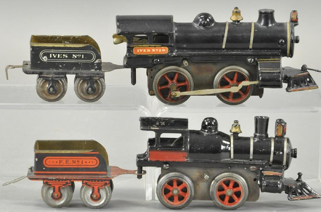 TWO EARLY CLOCKWORK IVES LOCOMOTIVES