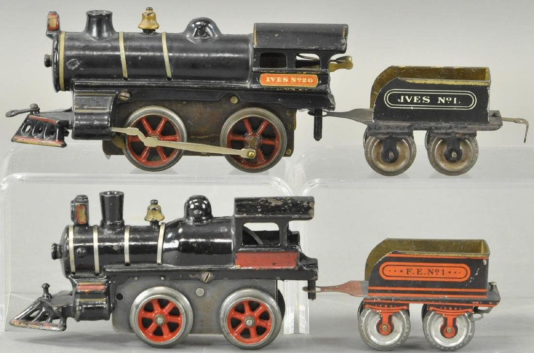 TWO EARLY CLOCKWORK IVES LOCOMOTIVES - 2