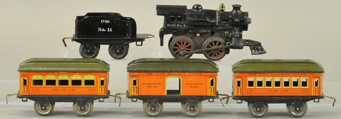 IVES O GAUGE PASSENGER SET WITH #6 LOCO