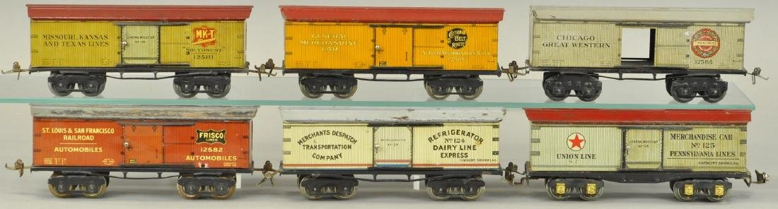 LOT OF SIX IVES O GAUGE BOX CARS - 2