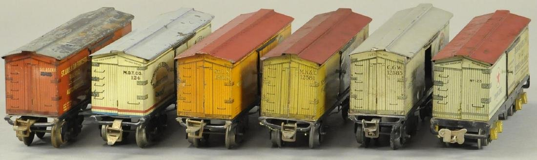 LOT OF SIX IVES O GAUGE BOX CARS - 3