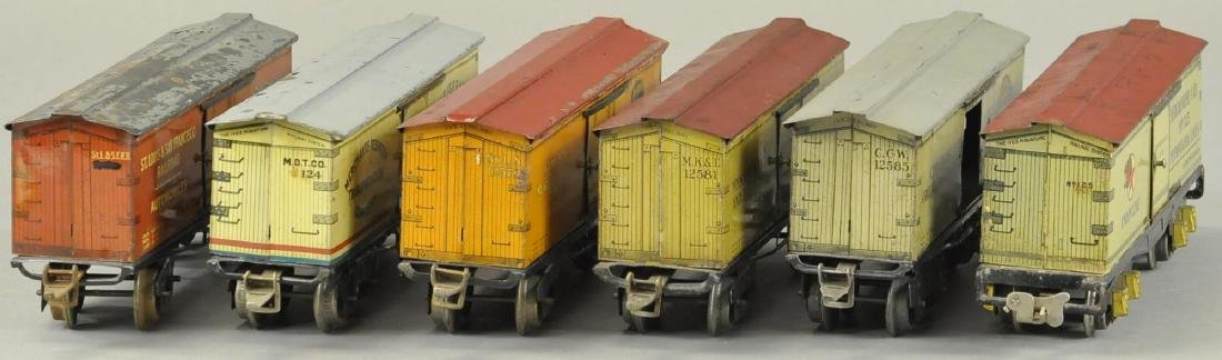 LOT OF SIX IVES O GAUGE BOX CARS - 4