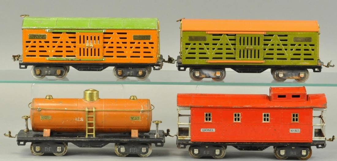 FOUR LIONEL STANDARD GAUGE FREIGHT CARS
