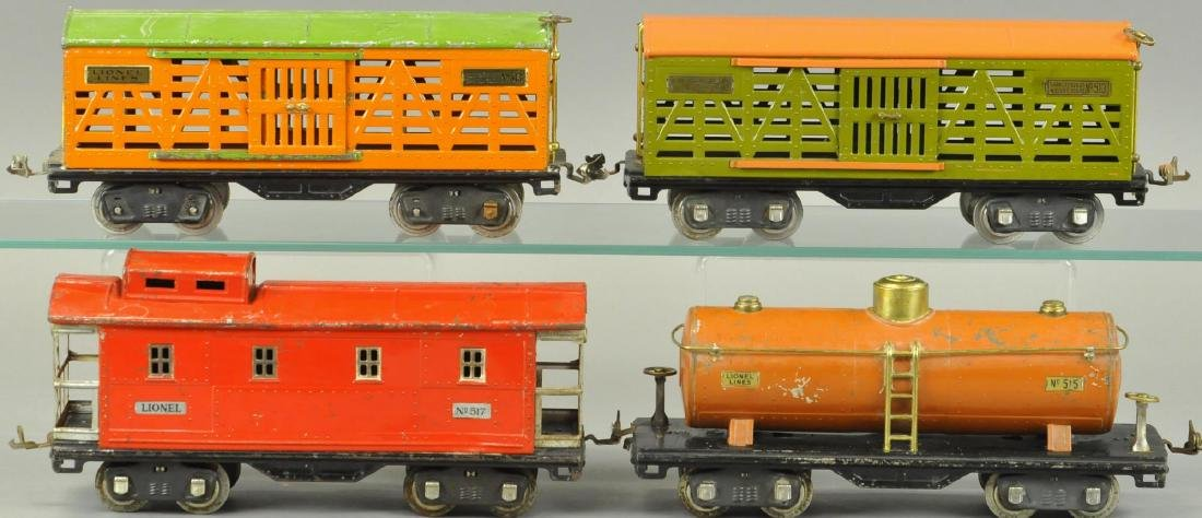 FOUR LIONEL STANDARD GAUGE FREIGHT CARS - 2