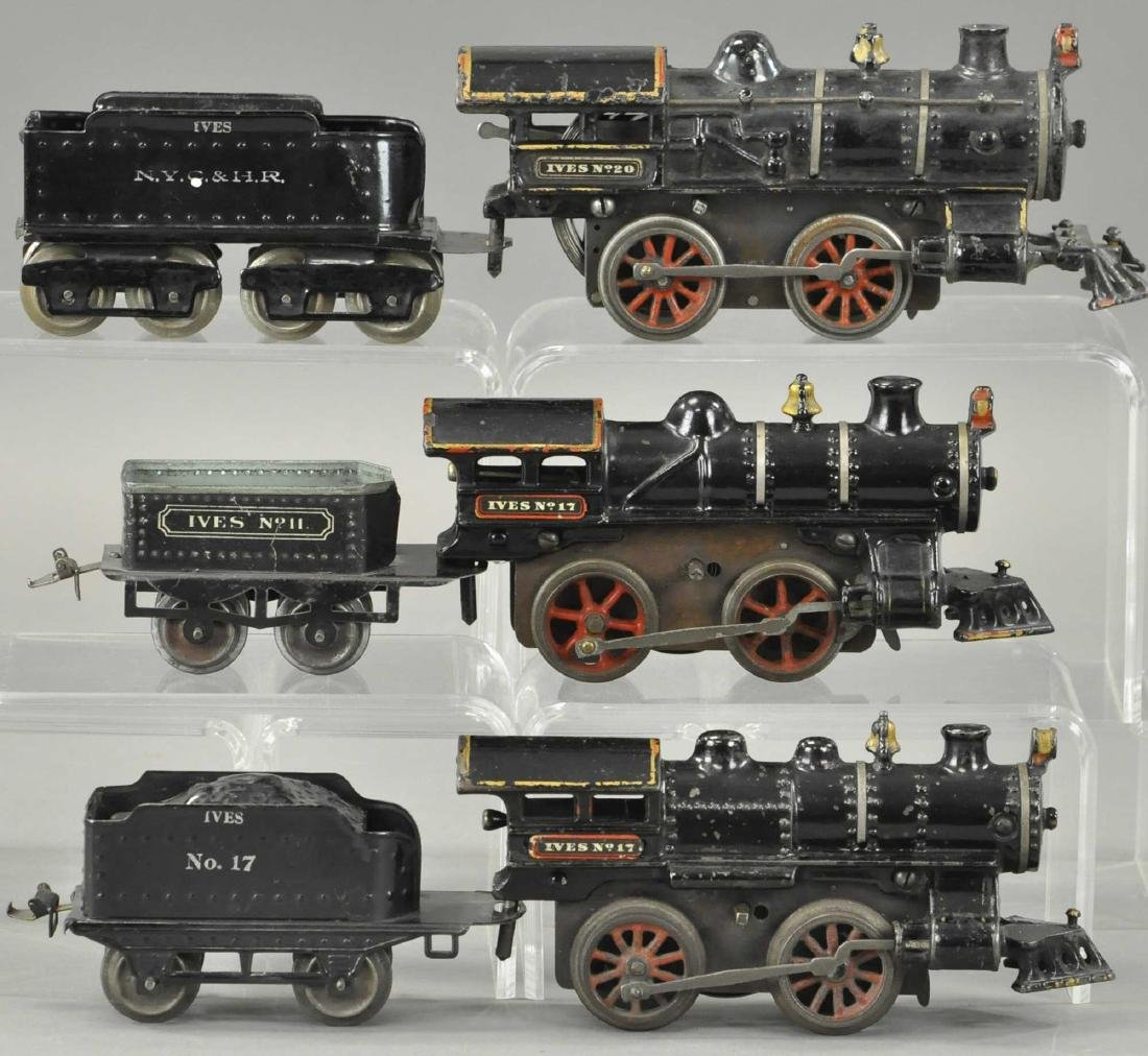 LOT OF THREE CLOCKWORK IVES LOCOMOTIVES