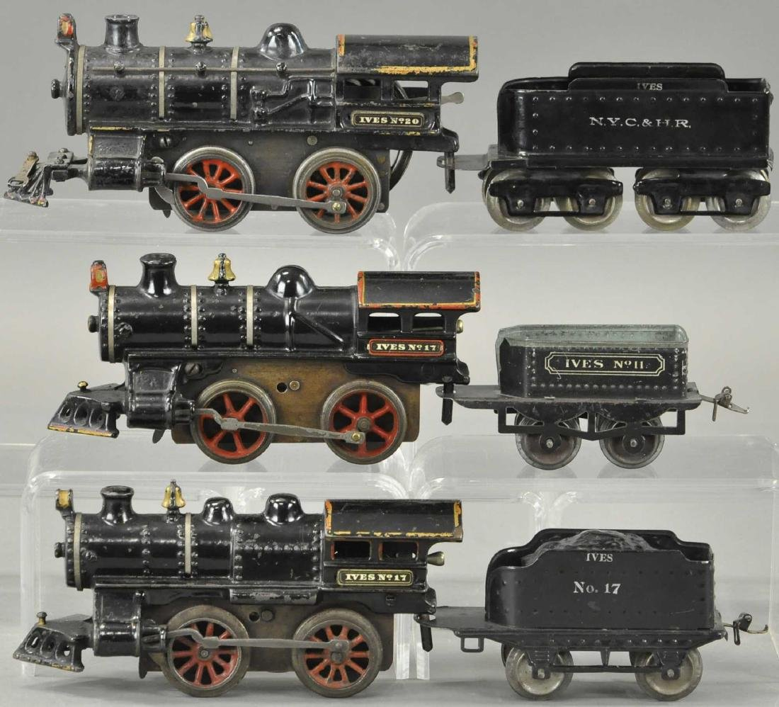 LOT OF THREE CLOCKWORK IVES LOCOMOTIVES - 2