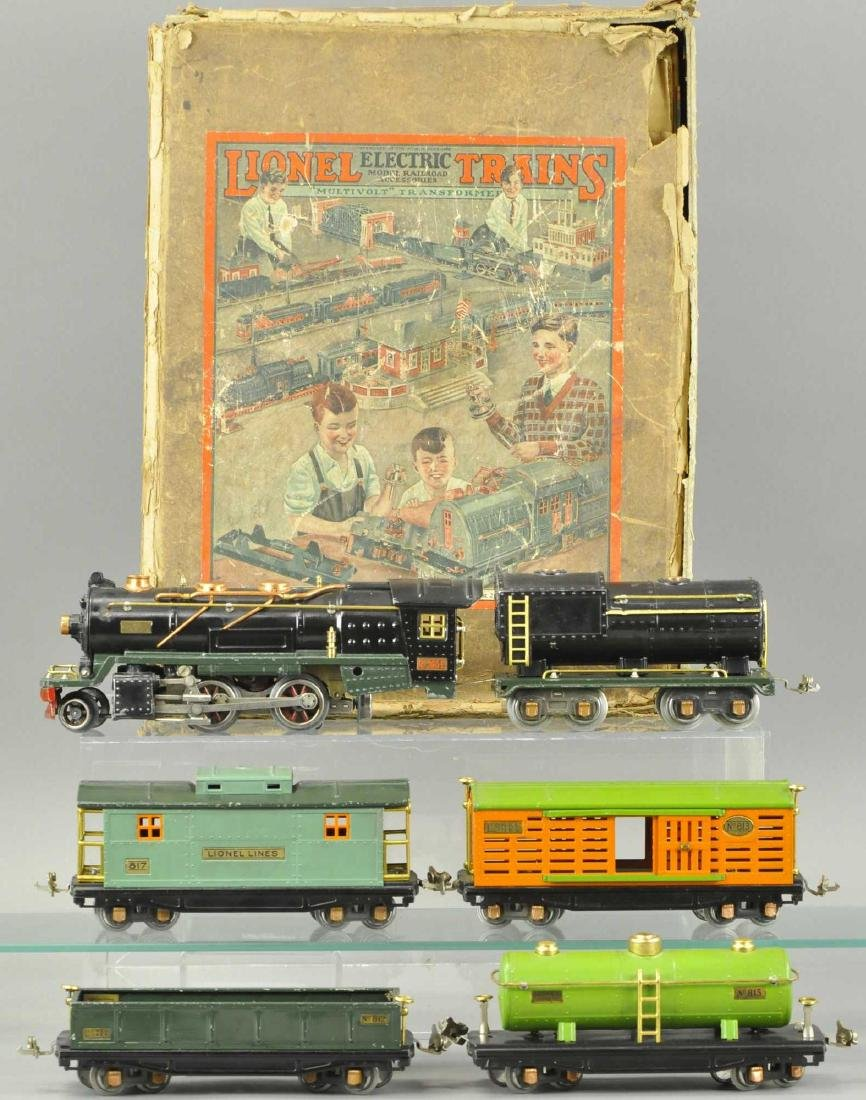 BOXED LIONEL O GAUGE #260E LOCO AND FREIGHT SET