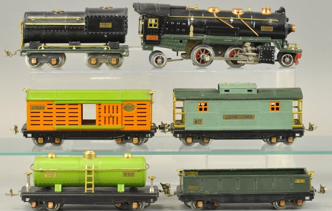 BOXED LIONEL O GAUGE #260E LOCO AND FREIGHT SET - 2