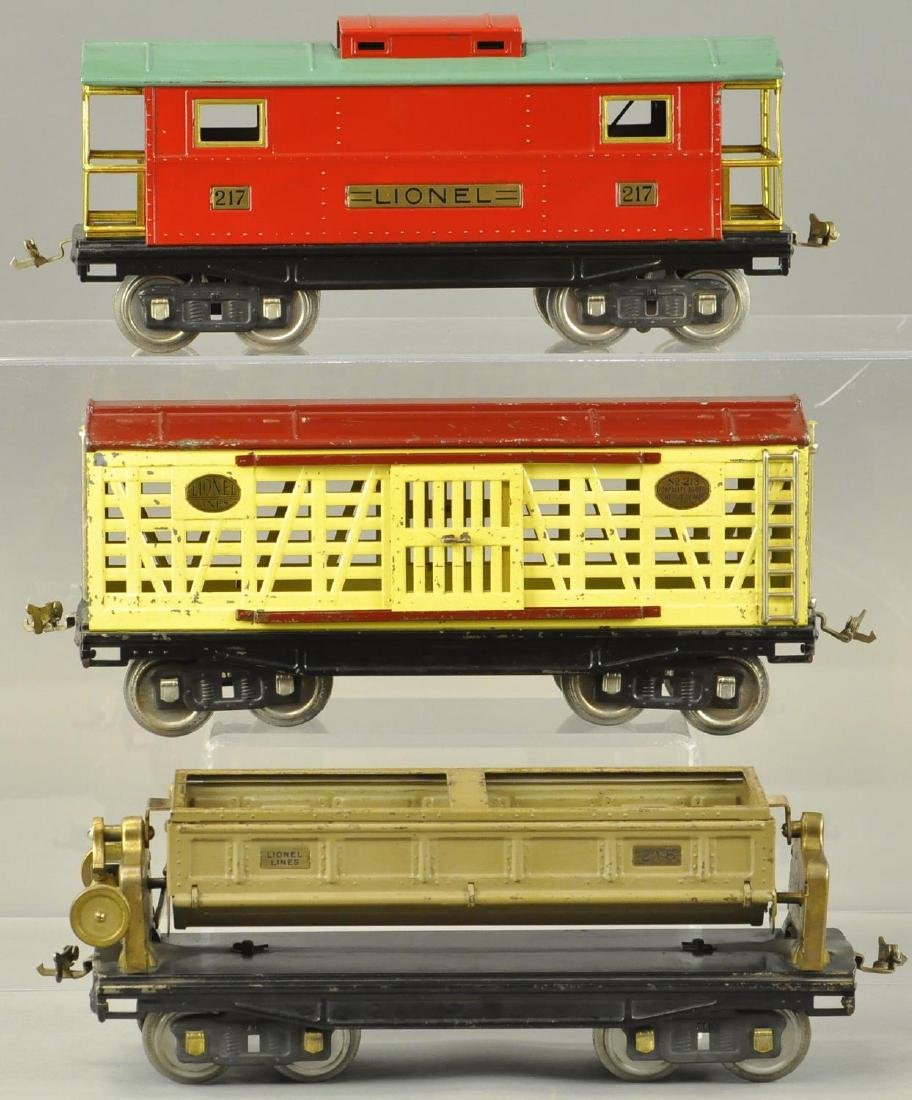 LOT OF 3 LIONEL STANDARD GAUGE FREIGHT CARS