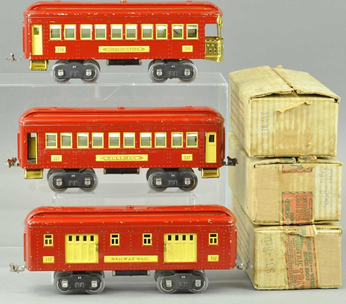 BOXED LIONEL STANDARD GAUGE 300 SERIES CARS