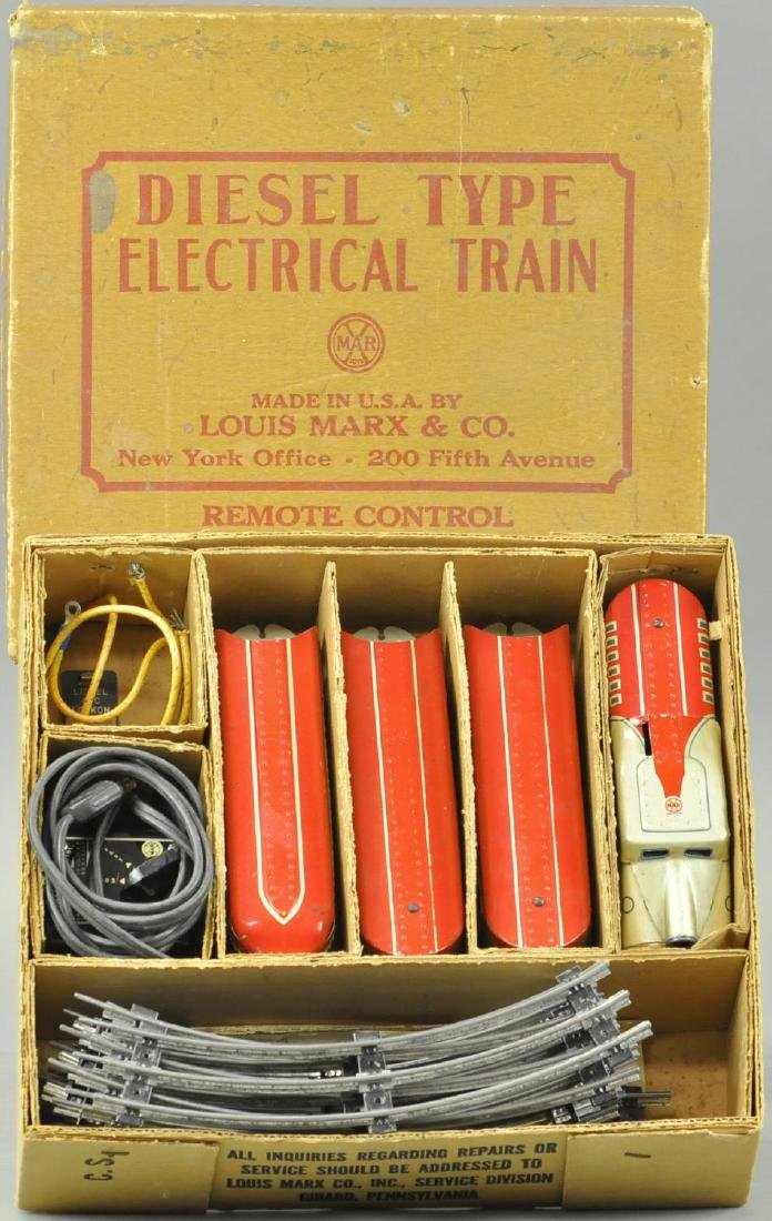 BOXED MARX DIESEL ELECTRIC STREAMLINE SET