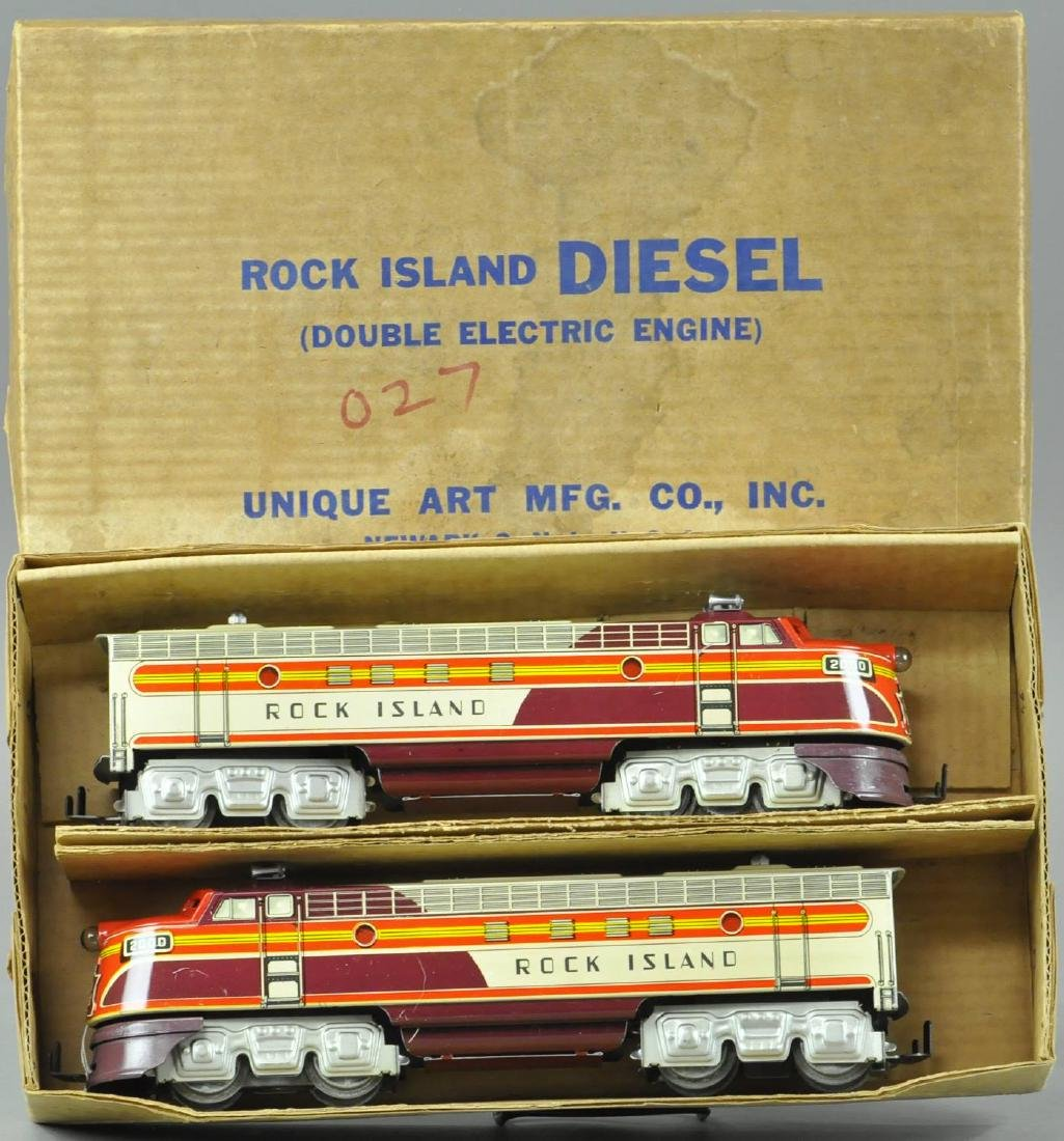 BOXED UNIQUE ART ROCK ISLAND DIESEL LOCOMOTIVES