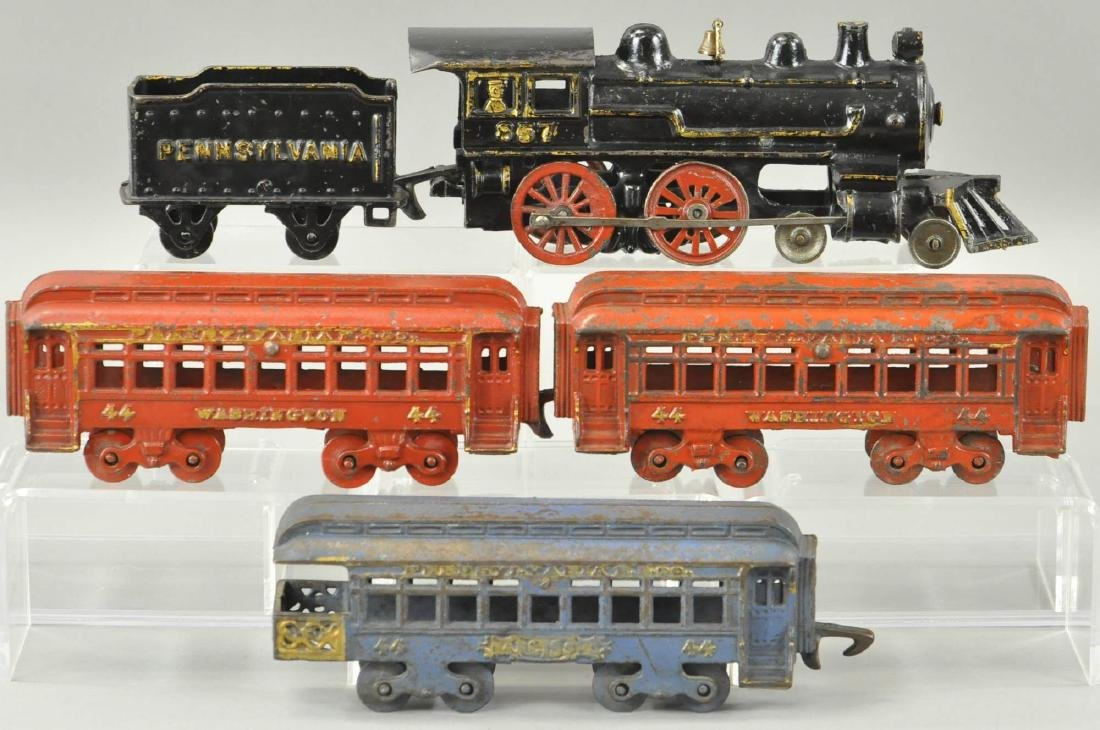HUBLEY PENN PASSENGER TRAIN SET