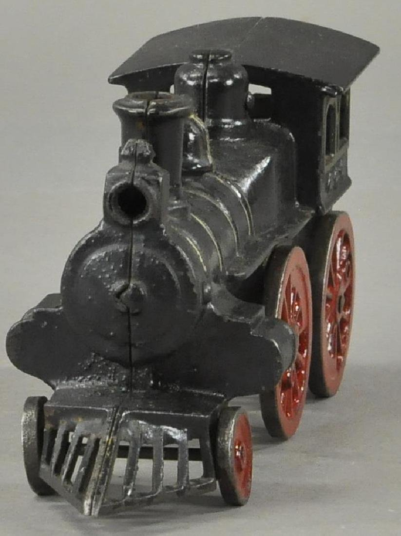 EARLY CLOCKWORK HUBLEY FLOOR LOCOMOTIVE - 2